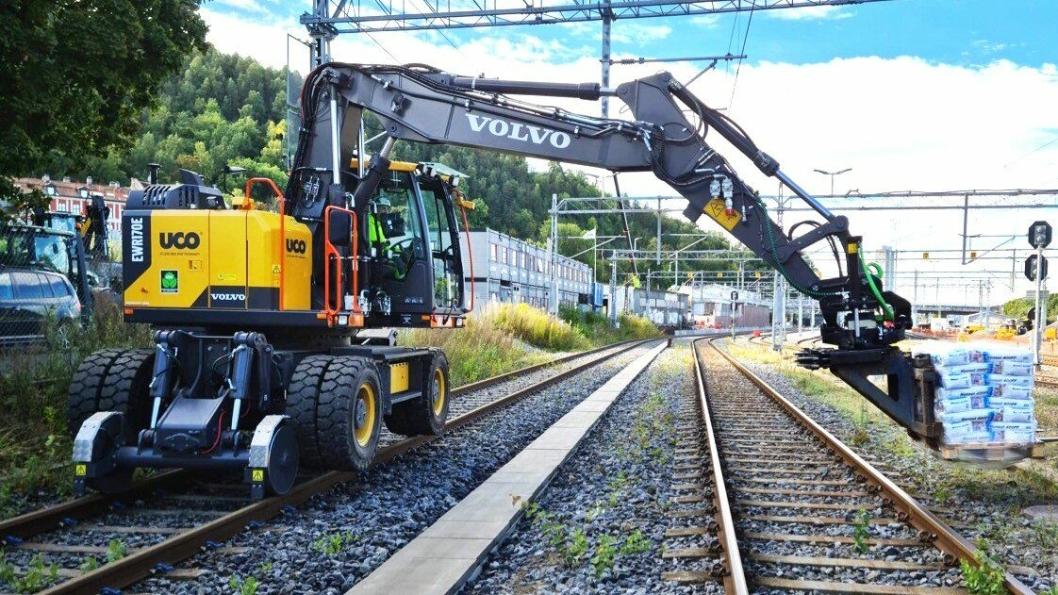 Første i Norge: Volvo EWR 170E High Rail.