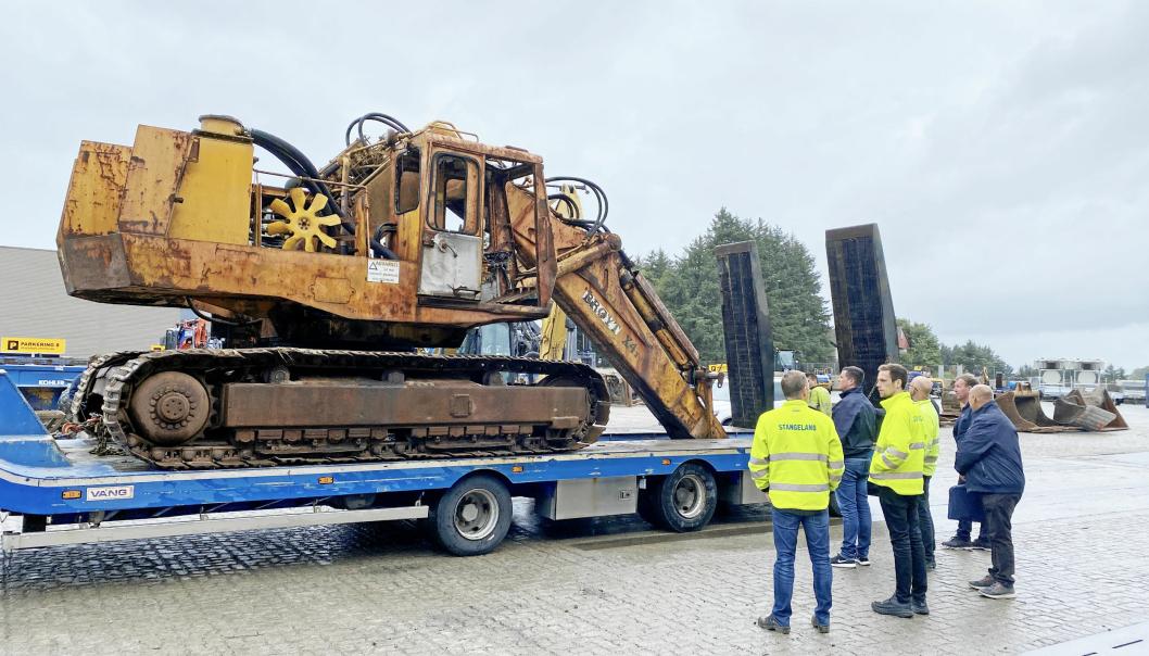 SJELDEN LAST: Brøyt X4T er en maskin det bare er produsert 19 enheter av.