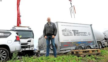 TG PUMPESERVICE: Tore Gausland, daglig leder i TG Pumpeservice på plass.