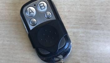 Fjernkontroll som ble brukt til å overstyre fartsskriveren.