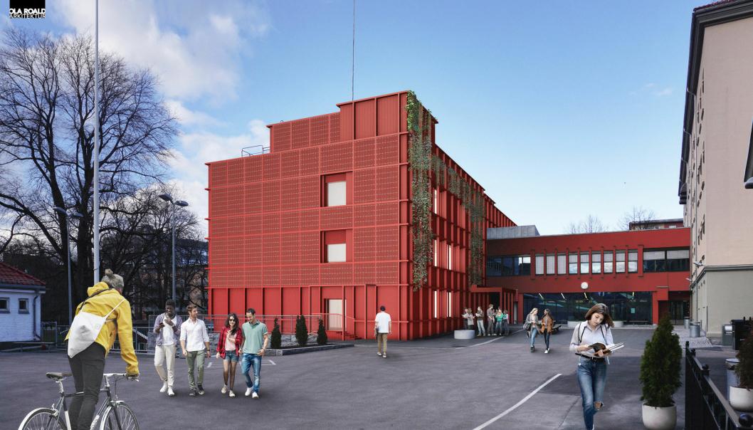 Sofienberg skole får ny fasade med solenergiproduksjon og lavt energiforbruk, samtidig som materialer skal ombrukes.