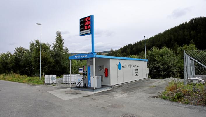 DET FØRSTE: Valdres Oljeservice AS på Fagernes er det første Vera Valdres-anlegget. Dette ble etablert i 2019.