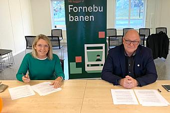 Signerte kontrakt om grunnarbeider på Fornebu stasjon
