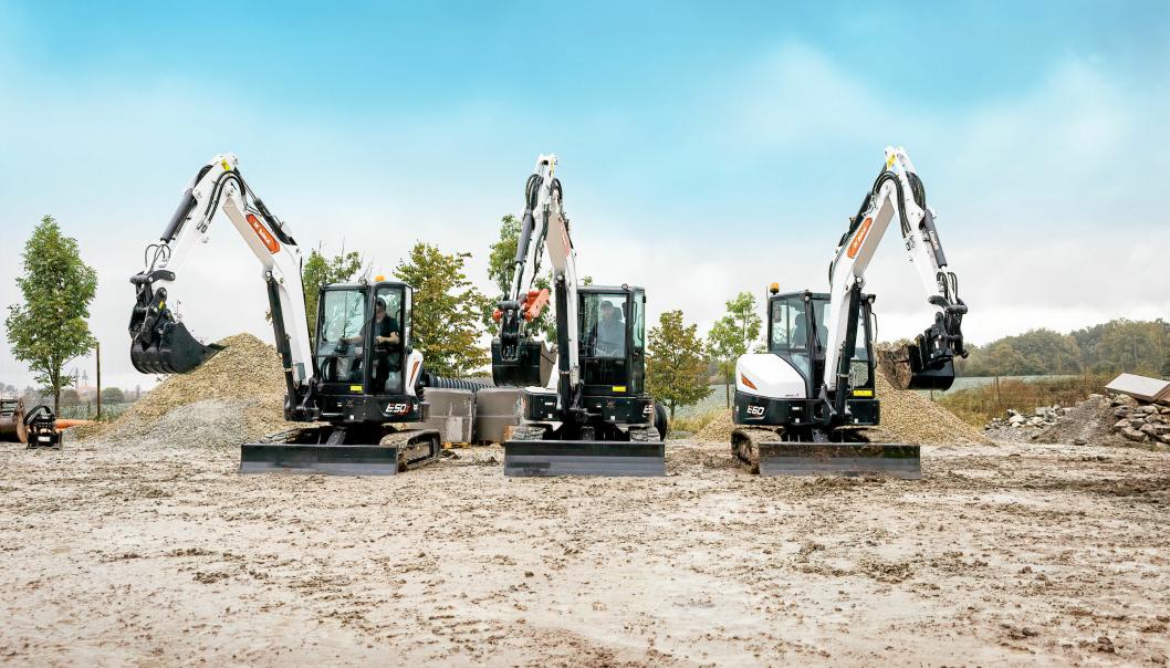 MINIGRAVERNE: Tre nye modeller i R-serien er nå lansert.