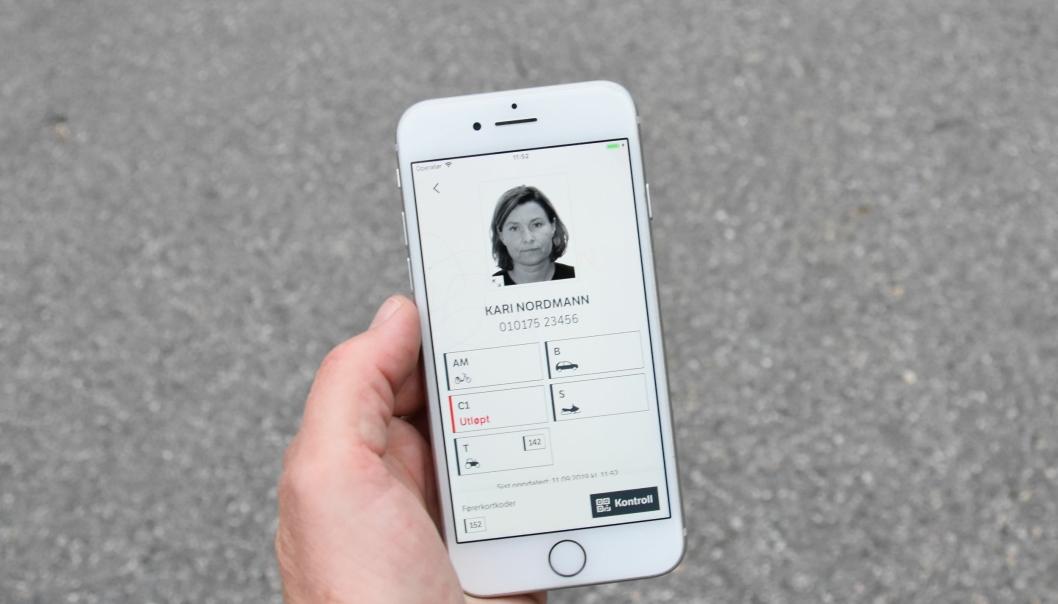 Digitalt førerkort.