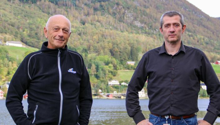 Sammen med Infobric etablerer Omega selskapet HMSREG AS for en bærekraftig byggebransje. F.v: Arne Jon Myskja, daglig leder i HMSREG AS, og Svein Tore Haraldseid, daglig leder i Omega PS.