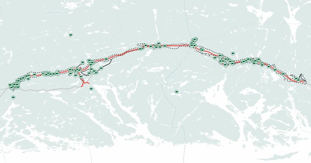 Det er kommet over 200 innspill til oppstart av reguleringsplan for nye E18 Dørdal-Tvedestrand. Stedene dette gjelder er merket på dette kartet.