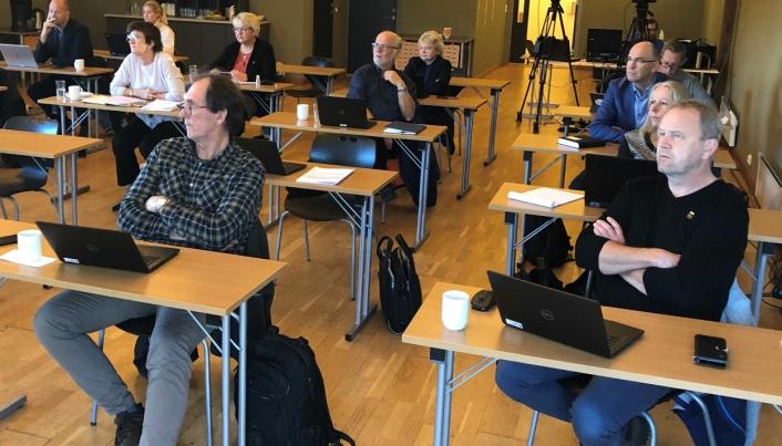 Fra styremøtet i det interkommunale plansamarbeidet 4. november 2020. Ytterst til høyre ordfører i Kragerø, Grunde Knudsen.