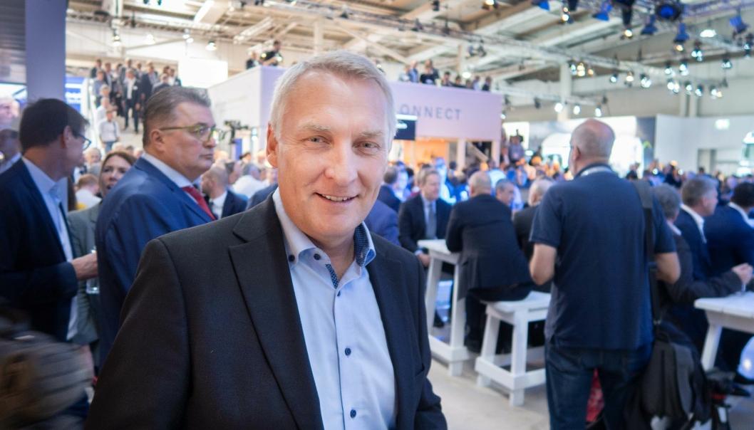 Arne Knaben er ny adm. direktør i Volvo Maskin AS. Bilde fra 2018.
