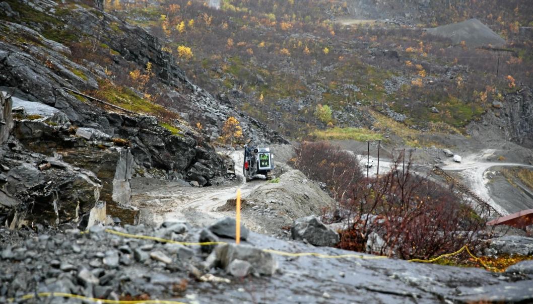 Nussir ASA har i årevis vært i startgropen for utvinning av kobber i Kvalsund kommune i Finnmark. Bildet er fra 2015.