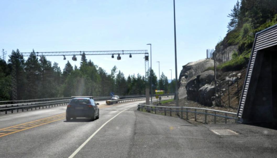 Bommen ved Kobbervollane vest for Saggrenda blir sannsynligvis flyttet til kommunegrensen mot Notodden i løpet av sommeren 2021.