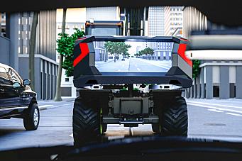 Volvo hjulgraver med storskjerm bak