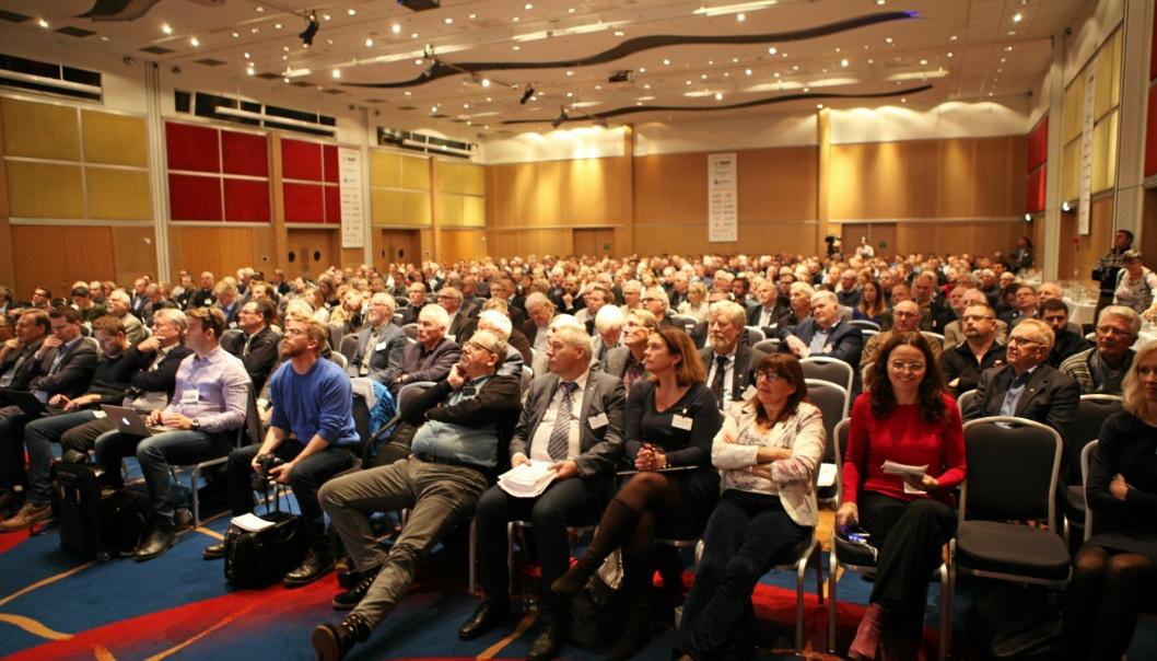 Bilde fra 2016-utgaven av konferansen. Slik blir det ikke i år, men NFF satser på at alt er «tilbake ved det gamle» i 2021.