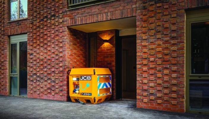 Universallader fra JCB som er liten i størrelse og dermed enkelt kan tas med ut på anlegg.