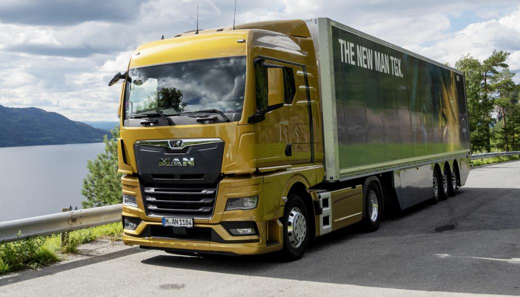 FLAGGSKIPET: TGX er den første modellen MAN har startet produksjon av i Next Generation Truck. Etter en covid 19-forsinkelser er nå leveransene i gang.
