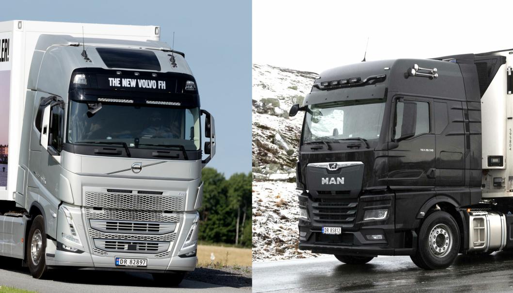 Mandag 23. november 2020 blir det offentliggjort hvilken av disse to som blir Truck of the Year 2021: Volvos FH-serie eller MAN TGX.