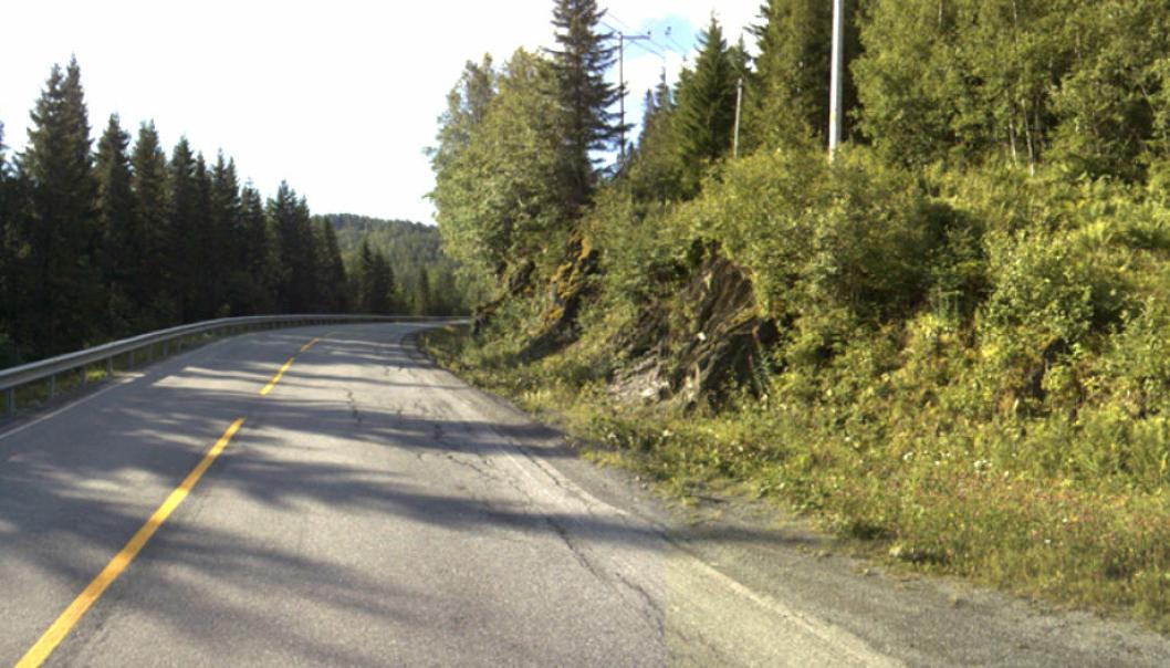 En av svingene i Helvetesdalen på fv. 705 som skal utbedres.