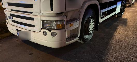 Denne lastebilen er stoppet to ganger med sjåfører uten førerkort bak rattet