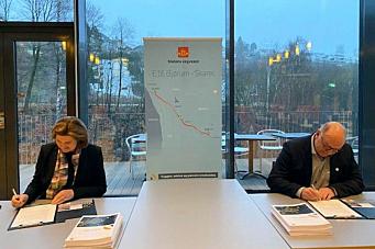 Skanska og Vegvesenet signerte kontrakt på over 3 milliarder kroner
