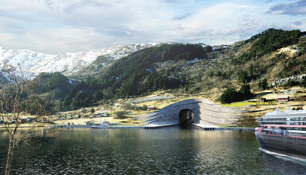 - Stadhavet er et av de mest værutsatte langs norskekysten. Med en tunnel vil vi forbedre sikkerheten til sjøs, sier samferdselsminister Knut Arild Hareide.