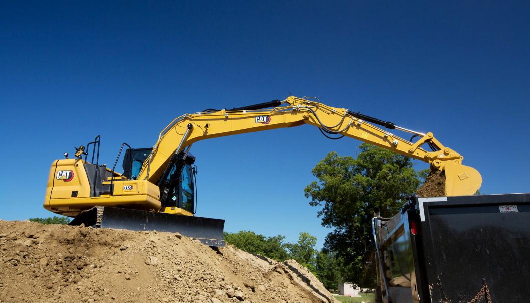 Caterpillar utvider sin Next Gen-serie til flere maskiner, her er 15-tonneren Cat 313.