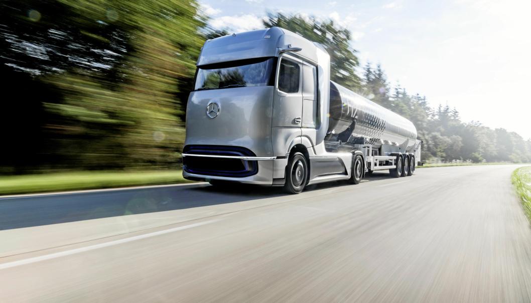 Daimler Trucks CO2-nøytrale fremtid med elektrisk drivlinje og hydrogen brenselcelle.