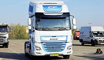 De aller fleste av Europas lastebilprodusenter er på gang med elektriske varianter, her en DAF CF electric