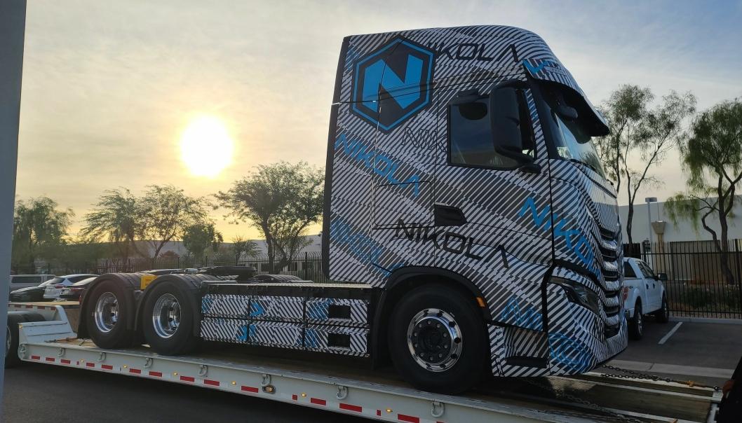 Den første prototypen av Nikola Tre har ankommet USA