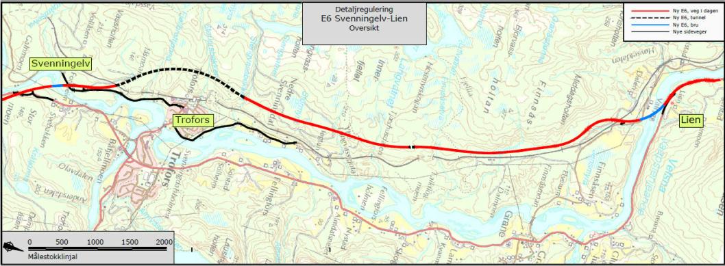 E6 Svenningelv-Lien, detaljregulering.