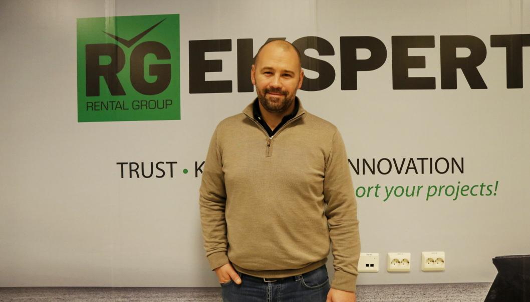 Lars Hæhre er flasket opp i anleggsbransjen, og nå adm. direktør i storsatsende Rental Group. Foto: Klaus Eriksen