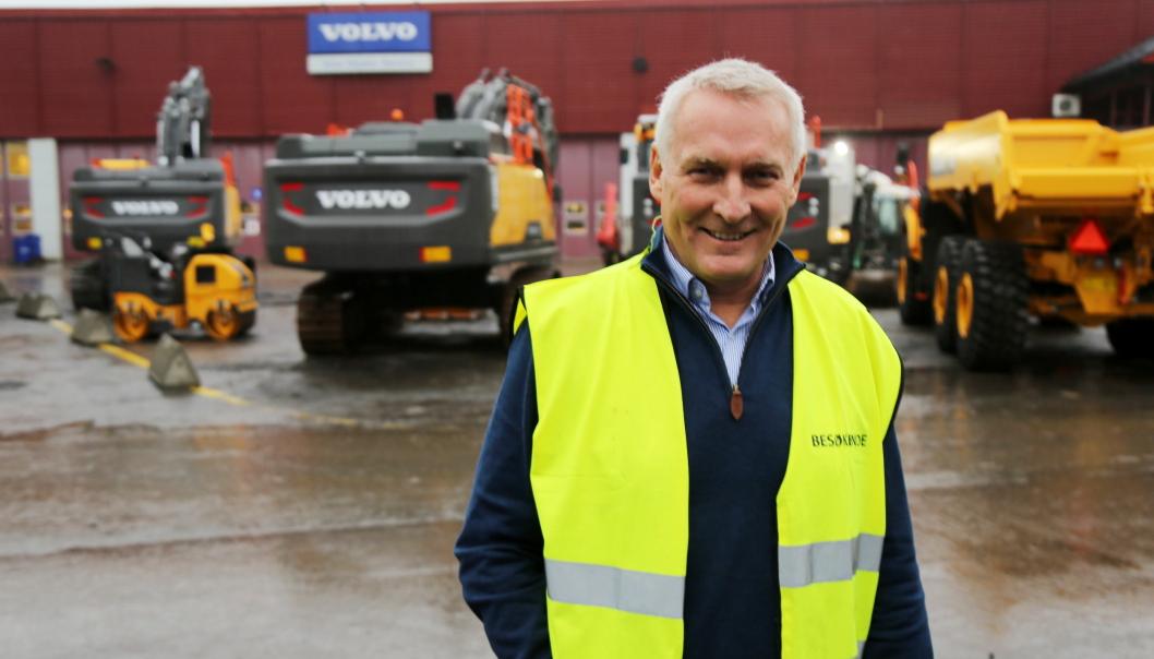 Arne Knaben ble i november ansatt som adm. direktør i Volvo Maskin AS i Norge. Han kommer fra Volvo-systemet, men fra lastebilsiden. Foto: Klaus Eriksen