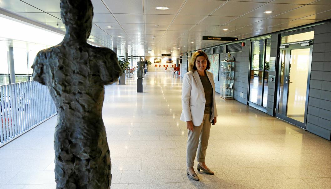 Vegdirektør Ingrid Dahl Hovland i lokalene til Statens vegvesen. Foto: Klaus Eriksen