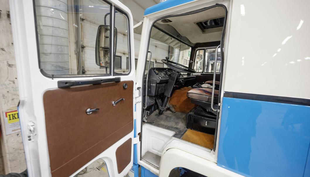 TRUKKET OPP: Scania 141'en har blitt fullstendig restaurert, både innvendig og utvendig.