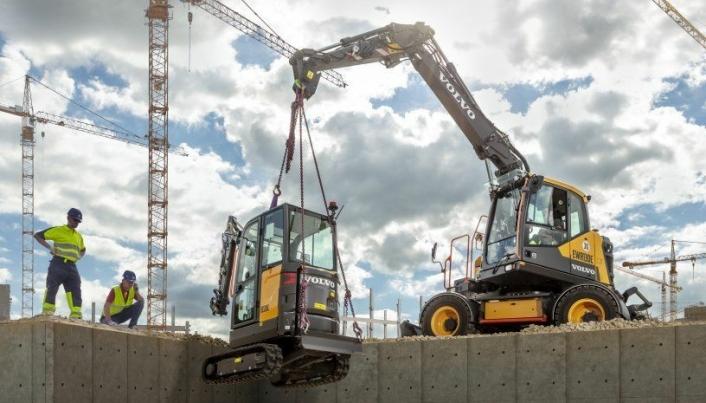 Løftekapasiteten er p 4,3 tonn med 6 meters rekkevidde. Foto: Volvo CE