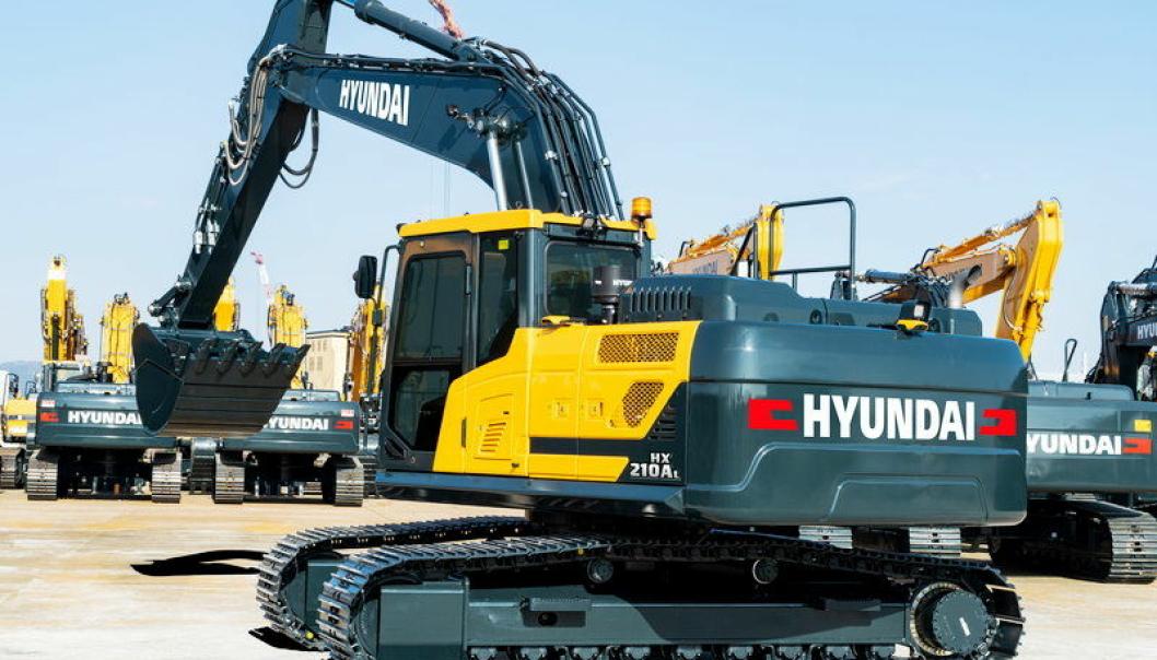 Sr-koreanske Hyundai lanserer den nye 22-tonns beltegraveren XH210AL.   Foto: Hyundai