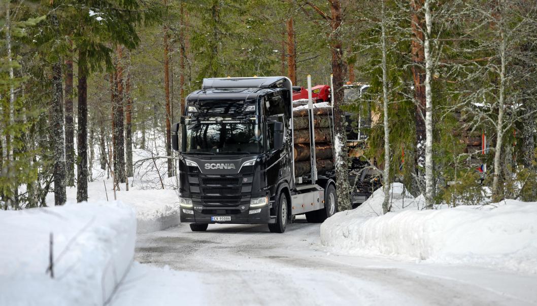 Scania slo meget godt fra seg i 2020 når det kommer til markedsandeler. Her illustrasjonsbilde fra Scania Winter i januar 2020 i Trysil. Foto:
