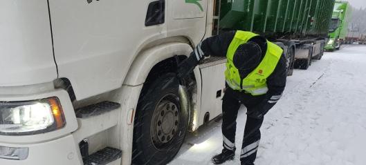 Statens vegvesen kontrollerte over 79.000 tungbiler i 2020