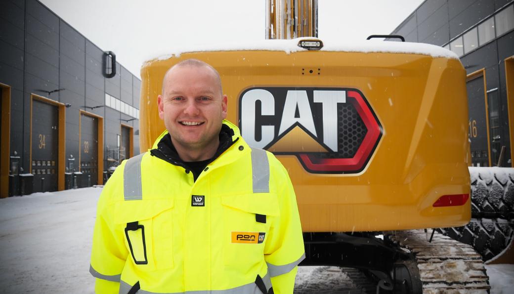 Marius Halnes har vært maskinansvarlig hos Skanska i Norge siden 2011. Nå er han blitt produktsjef for Cat gravemaskiner hos Pon Equipment AS