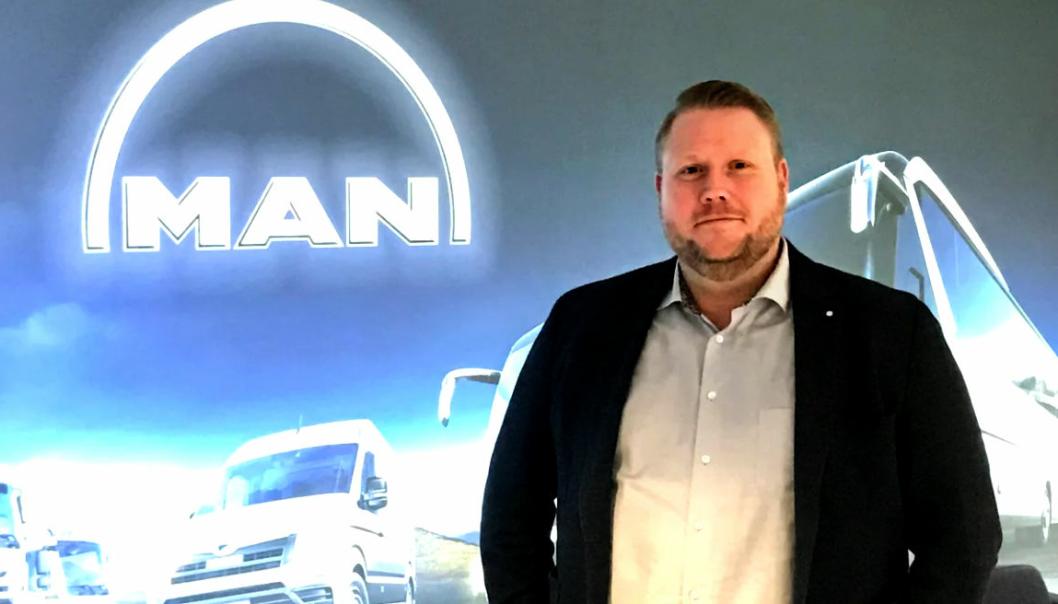 Petter Lende er ny sjef for bruktbiler hos MAN i Norge.