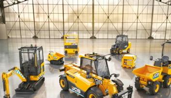JCB, det andre maskinmerket Rosendal Maskin representerer, leverer flere elektriske modeller.