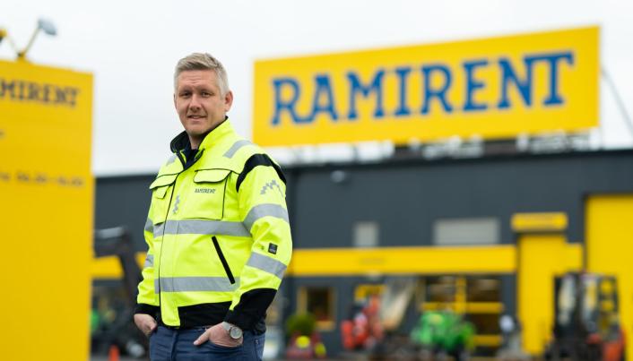 Salgs- og markedsdirektør i Ramirent Norge Amund Havig, er veldig stolt av å bli valgt som leverandør på et prosjekt hvor bærekraft og krav til fossilfrie løsninger er høyt på agendaen.