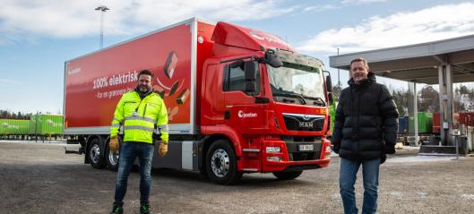 Posten tar i bruk 26-tonns elektrisk lastebil