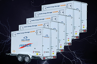 Tilhengere bringer strøm dit det ikke er strømnett