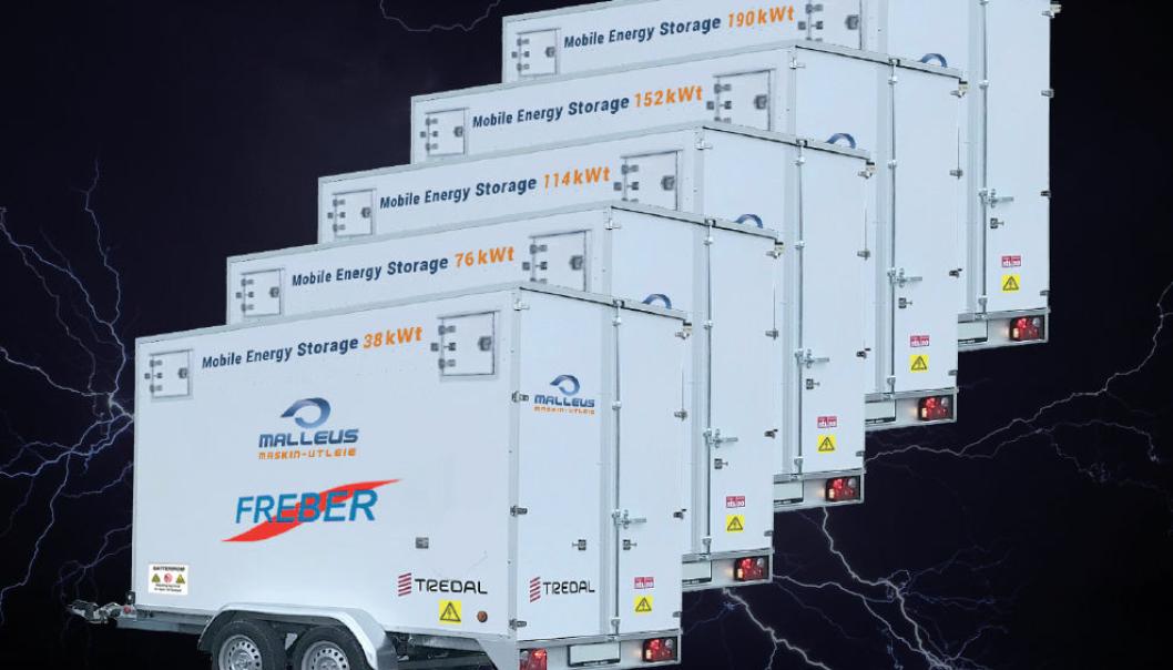 Freber Elektronikk tilbyr i samarbeid med Malleus Maskin en ny serie med ladebatteri-hengere, ESS.