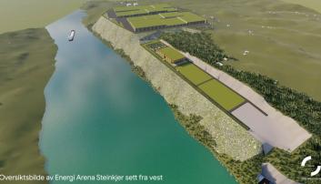 TRØNDELAG: Energi Arena Steinkjer slik prosjektet er tenkt, sett fra vest.