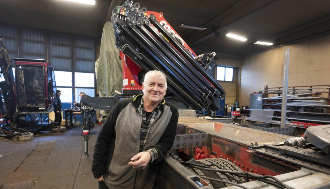 ERFAREN: Kåre Jensen har drevet påbyggerverkstedet W Mek på Espa siden 1995. Han har bygd tømmerkraner fra V-Kran og Copma stykkgodskraner