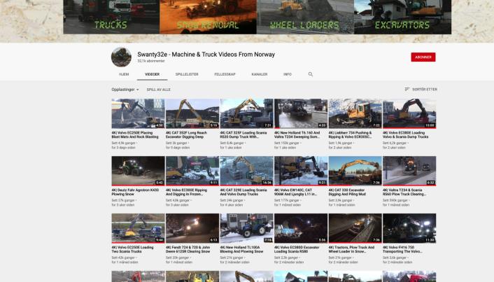 EGEN KANAL: 700 filmer har Swanty32e på sin YouTube-kanal.