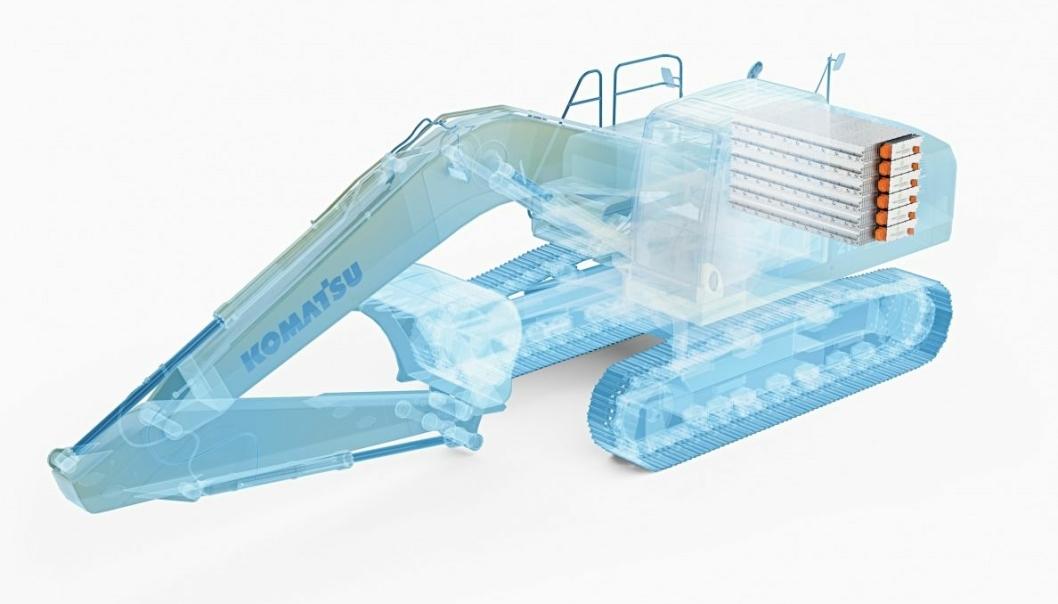 KOMMER: Nå utvikles det små og mellomstore elektriske Komatsu gravemaskinmodeller.