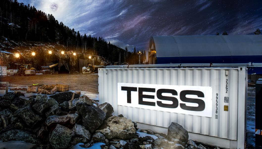 UTVALG: Det er ulike typer containere tilgjengelig fra Tess, her en container fra anlegg på Kongsberg.