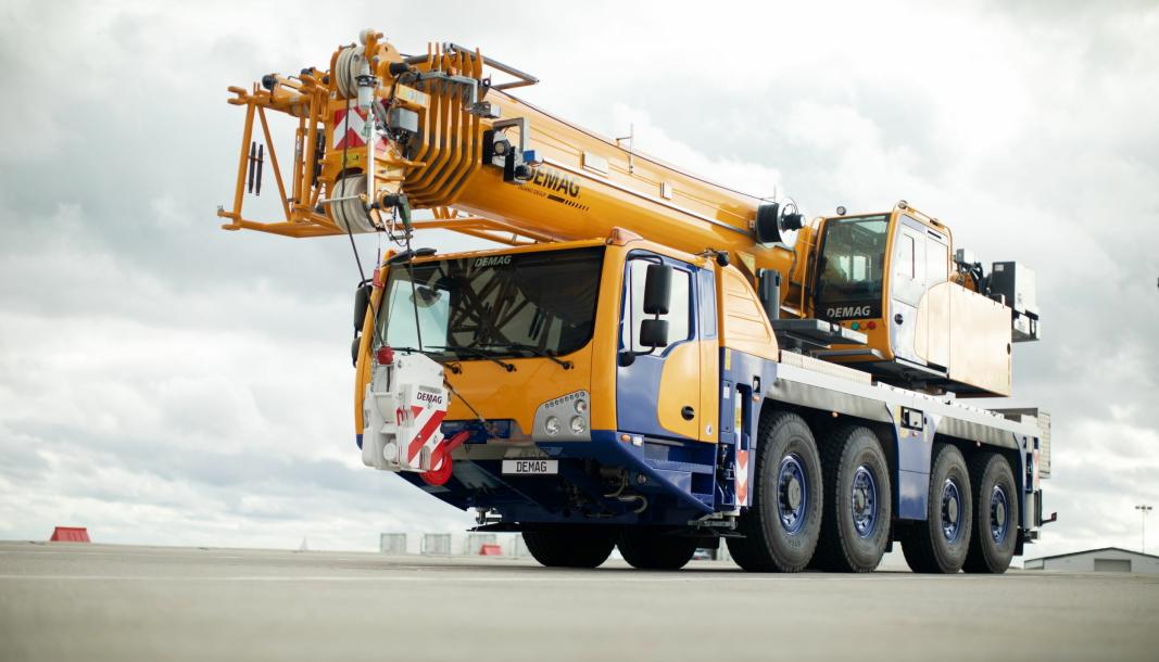 NY KRAN: En ny 80-tonns Demag med betegnelsen AC 80-4 er snart klar for markedet. Denne skal være meget aktuell for det nordiske markedet.